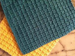 Knit Waffle Stitch Dishcloth : Boxy Dishcloth Leah Michelle Designs