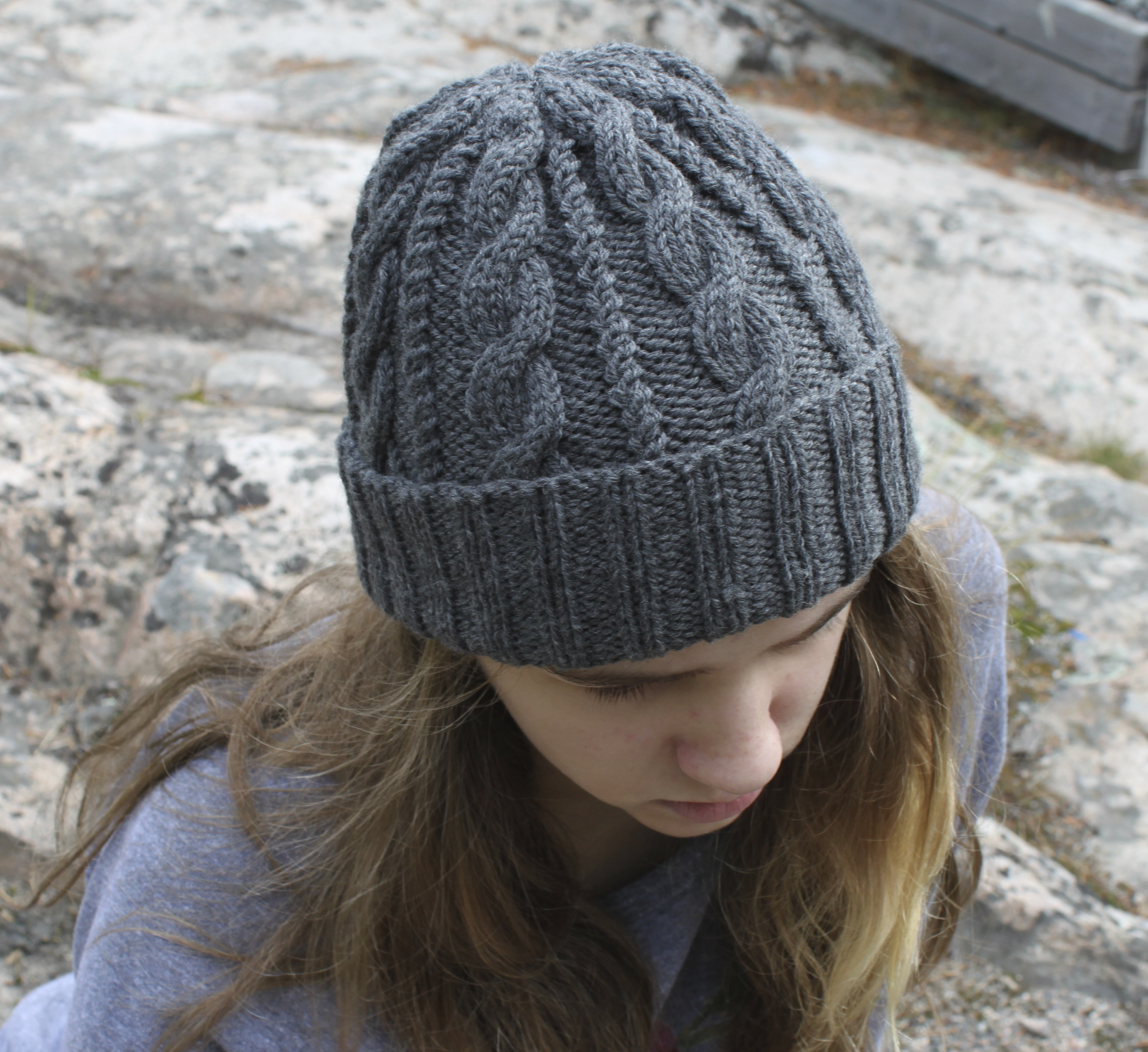 Cable Knit Beanie Tutorial
