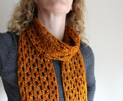 Lengthy Lace Scarf Modelled Close-up