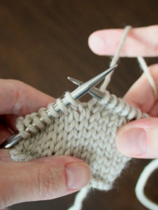 Step 1: Knit the stitch that will be used to create the increase.